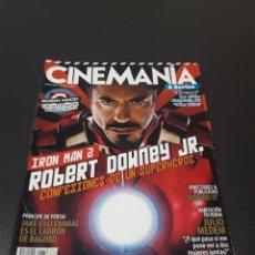 Cine: CINEMANIA N° 176. MAYO 2010. ROBERT DOWNEY JR. IRON MAN 2.. Lote 191782666