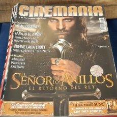 Cine: REVISTA CINE CINEMANIA N 96 SEPTIEMBRE 2003 SEÑOR ANILLOS . Lote 192047133