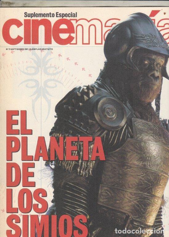 SUPLEMENTO REVISTA CINEMANIA Nº 72 AÑO 2001. EL PLANETA DE LOS SIMIOS. (Cine - Revistas - Cinemanía)