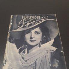 Cine: PRIMER PLANO N° 169. 9 DE ENERO 1944. AMPARITO RIVELLES, MANOLO MORAN.. Lote 192320786