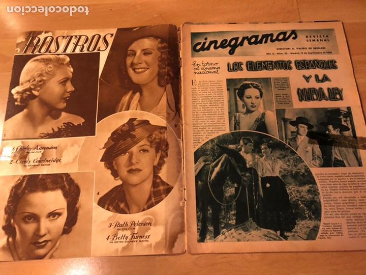 Cine: Revista cinegramas sep 1935 Miriam hopkins katharine hepburn myrna loy Glenda farrell - Foto 2 - 192669250