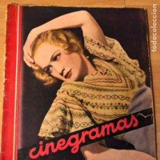 Cine: REVISTA CINEGRAMAS SEP 1935 MIRIAM HOPKINS KATHARINE HEPBURN MYRNA LOY GLENDA FARRELL. Lote 192669250