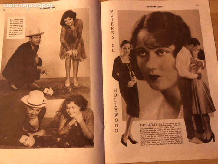 Cine: Revista popular film junio 1930 Leila hyams Fay wray ramon novarro - Foto 3 - 192674390