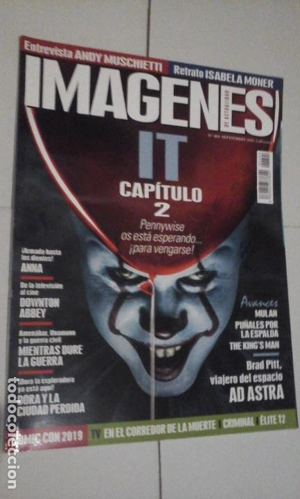 REVISTA IMAGENES Nº404 (PORTADA:IT CAPITULO 2) ¡¡LEER DESCRIPCION!! (Cine - Revistas - Imágenes de la actualidad)