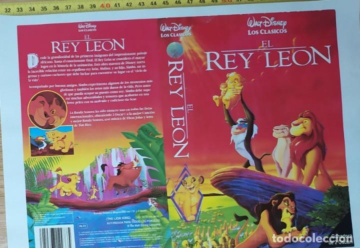 CARATULA DE EL REY LEON (Cine - Revistas - Papeles de cine)