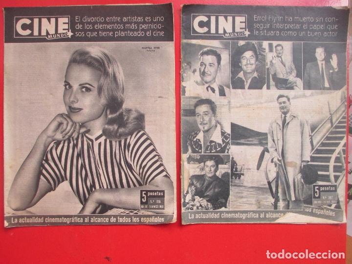 Cine: LOTE 26 REVISTAS CINE MUNDO AÑOS 50 Y 60 REVISTA CINE - Foto 2 - 192799972