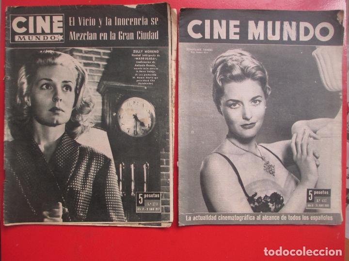 Cine: LOTE 26 REVISTAS CINE MUNDO AÑOS 50 Y 60 REVISTA CINE - Foto 3 - 192799972