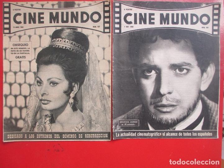 Cine: LOTE 26 REVISTAS CINE MUNDO AÑOS 50 Y 60 REVISTA CINE - Foto 4 - 192799972