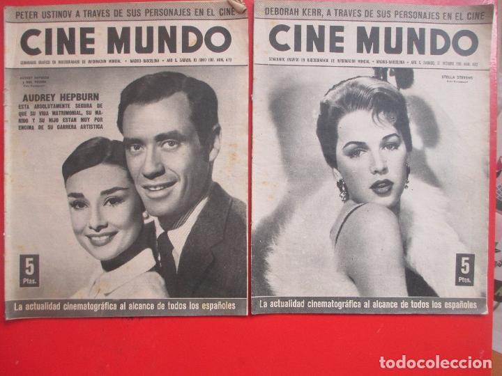 Cine: LOTE 26 REVISTAS CINE MUNDO AÑOS 50 Y 60 REVISTA CINE - Foto 5 - 192799972