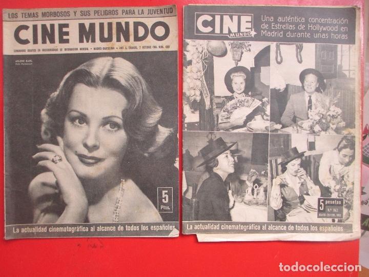 Cine: LOTE 26 REVISTAS CINE MUNDO AÑOS 50 Y 60 REVISTA CINE - Foto 6 - 192799972