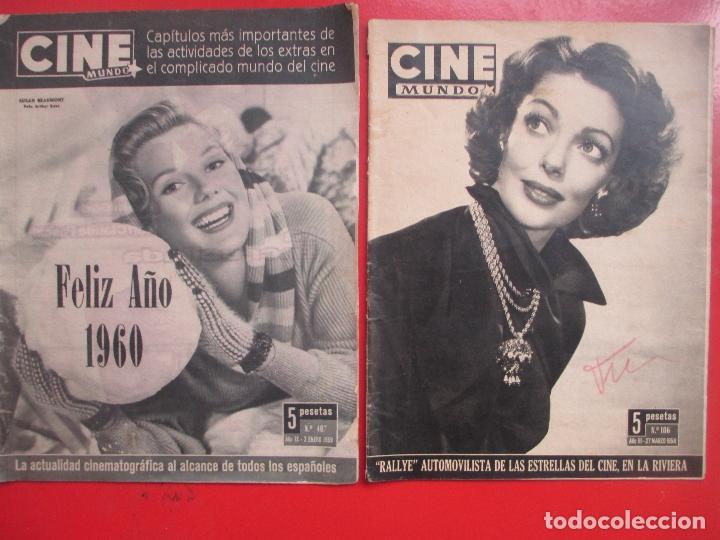 Cine: LOTE 26 REVISTAS CINE MUNDO AÑOS 50 Y 60 REVISTA CINE - Foto 7 - 192799972