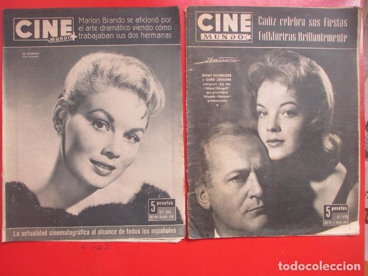 Cine: LOTE 26 REVISTAS CINE MUNDO AÑOS 50 Y 60 REVISTA CINE - Foto 10 - 192799972