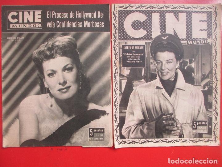 Cine: LOTE 26 REVISTAS CINE MUNDO AÑOS 50 Y 60 REVISTA CINE - Foto 11 - 192799972