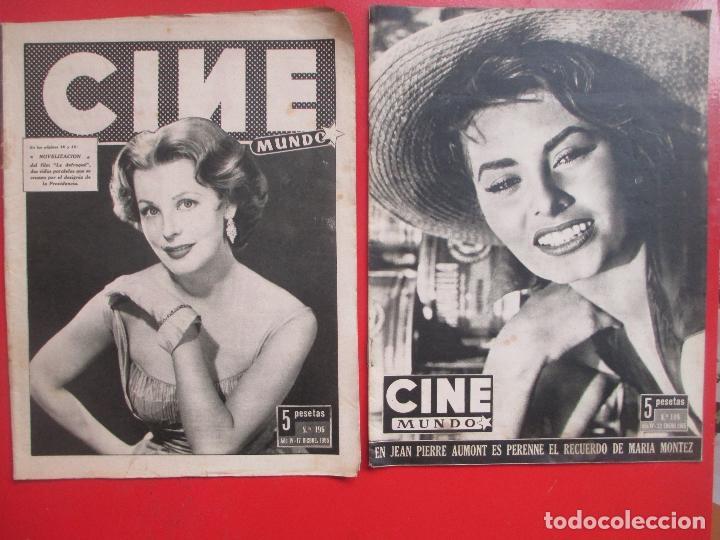 Cine: LOTE 26 REVISTAS CINE MUNDO AÑOS 50 Y 60 REVISTA CINE - Foto 12 - 192799972
