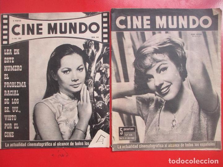 Cine: LOTE 26 REVISTAS CINE MUNDO AÑOS 50 Y 60 REVISTA CINE - Foto 13 - 192799972