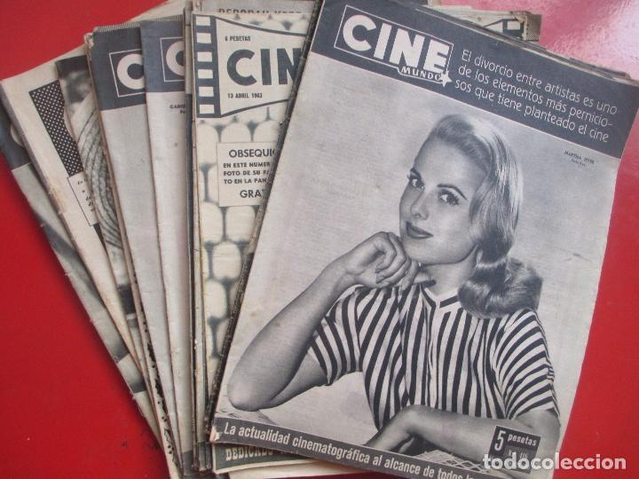 LOTE 26 REVISTAS CINE MUNDO AÑOS 50 Y 60 REVISTA CINE (Cine - Revistas - Cine Mundial)