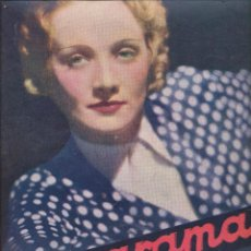 Cinema: CINEGRAMAS Nº 2. SEPTIEMBRE DE 1934. MARLENE DIETRICH EN PORTADA. Lote 192915307