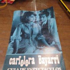 Cine: CARTELERA BAYARRI, PORTADA DE ANTHONY PERKINS Y YVONNE FOURNEAUX, N-599,AÑO 1968. Lote 192968557