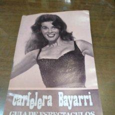 Cine: CARTELERA BAYARRI, PORTADA DE ANN MARGARET, N-615,AÑO 1968. Lote 192968862