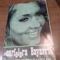 Cine: CARTELERA BAYARRI, PORTADA DE ANJANETTE COMER, N-622,AÑO 1968. Lote 192969481