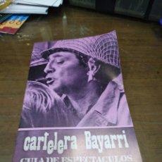 Cine: CARTELERA BAYARRI, PORTADA DE ROBERT MITCHUM, N-660,AÑO 1969. Lote 192971311
