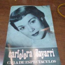 Cine: CARTELERA BAYARRI, PORTADA DE JANE WYMAN, N-603,AÑO 1968. Lote 192971466