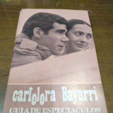 Cine: CARTELERA BAYARRI, PORTADA DE ANTONIO IRANZO Y MARIA MAY, N-608,AÑO 1968. Lote 192971715