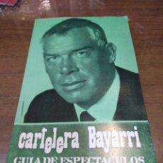 Cine: CARTELERA BAYARRI, PORTADA DE LEE MARVIN, N-610,AÑO 1968. Lote 192971905