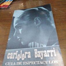 Cine: CARTELERA BAYARRI, PORTADA DE INGRID THULIN, N-609,AÑO 1968. Lote 192972110