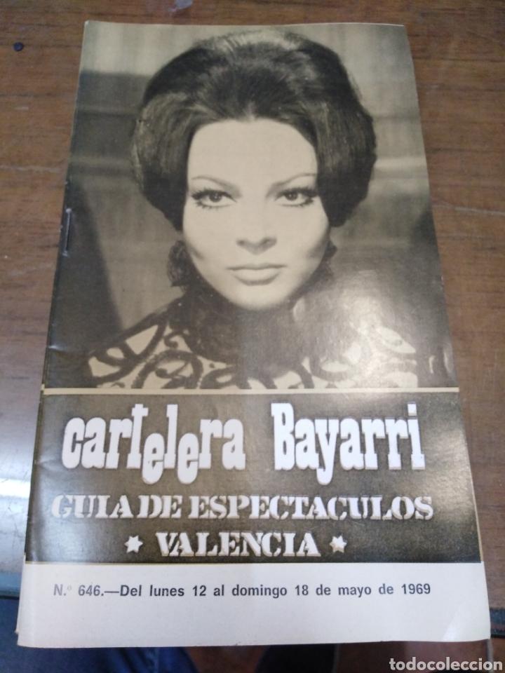 CARTELERA BAYARRI, PORTADA DE SARA MONTIEL, N-646,AÑO 1969 (Cine - Revistas - Otros)