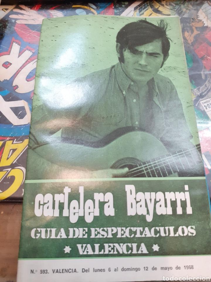 CARTELERA BAYARRI. PORTADA JOAN MANUEL SERRAT. N°593. 1968 (Cine - Revistas - Otros)
