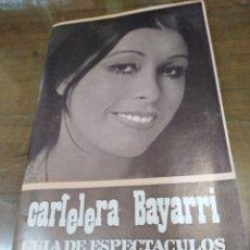 Cine: CARTELERA BAYARRI, PORTADA DE MASSIEL, N-633,AÑO 1969. Lote 192974900