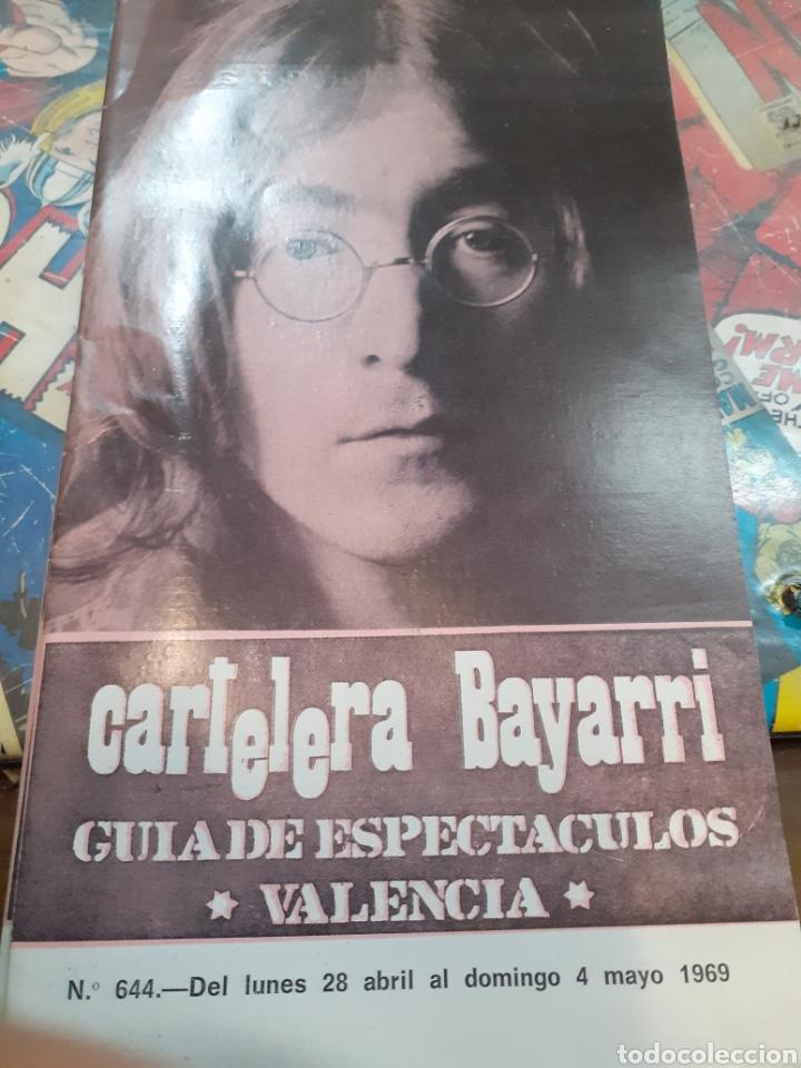 CARTELERA BAYARRI. PORTADA JOHN LENNON. N°644. 1969. THE BEATLES. (Cine - Revistas - Otros)