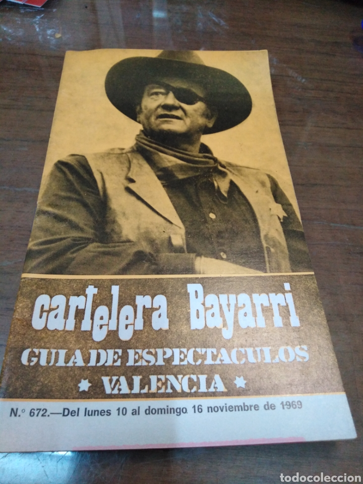 CARTELERA BAYARRI, PORTADA DE JOHN WAYNE, N-627, AÑO 1969 (Cine - Revistas - Otros)