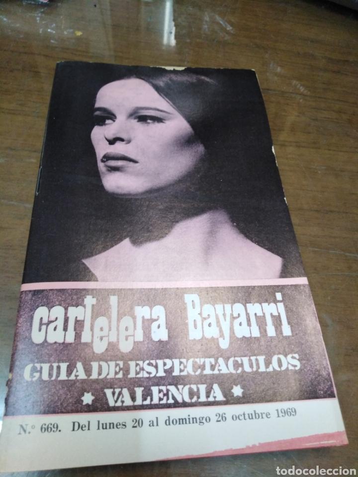 CARTELERA BAYARRI, PORTADA DE GERALDINE CHAPLIN, N-669,AÑO 1969 (Cine - Revistas - Otros)