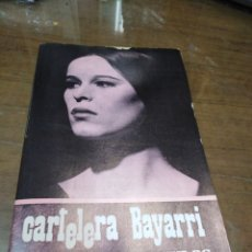 Cine: CARTELERA BAYARRI, PORTADA DE GERALDINE CHAPLIN, N-669,AÑO 1969. Lote 192975225