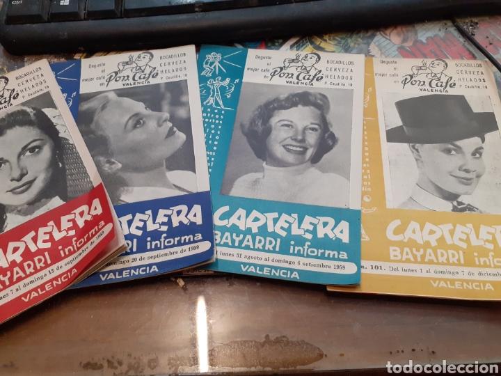 LOTE DE 53 CARTELERAS BAYARRI DIFERENTES DEL AÑO 1957 AL AÑO 1968 (Cine - Revistas - Otros)
