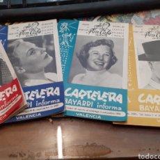 Cine: LOTE DE 53 CARTELERAS BAYARRI DIFERENTES DEL AÑO 1957 AL AÑO 1968. Lote 192976866