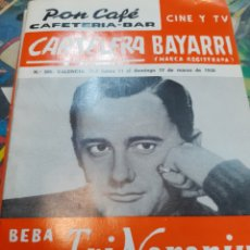 Cine: CARTELERA BAYARRI. PORTADA ROBERT VAUGHN. N°585. 1968. Lote 192977688