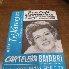 Cine: CARTELERA BAYARRI, PORTADA DE RITA HAYWORTH, N-488,AÑO 1966. Lote 192981655