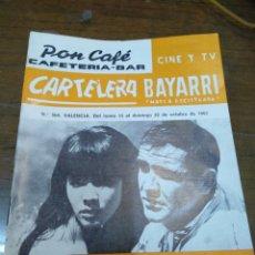 Cine: CARTELERA BAYARRI, PORTADA DE SEAN CONNERY Y MIÉ HAMA, N-564,AÑO 1967. Lote 192981696