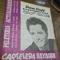Cine: CARTELERA BAYARRI, PORTADA DE JOHN DEREK, N-378,AÑO 1964. Lote 192981925