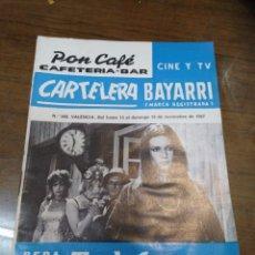 Cine: CARTELERA BAYARRI, PORTADA DE NICOLETTA MACHIAVELLI, N-568,AÑO 1967. Lote 192982265