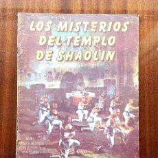 Cine: REVISTA KUNG FU CINEMA N°5 LOS MISTERIOS DEL TEMPLO DE SHAOLIN. Lote 193060677