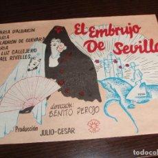 Cine: 1792- POSTER DE CINE: EL EMBRUJO DE SEVILLA DE BENITO PEROJO. Lote 193242851