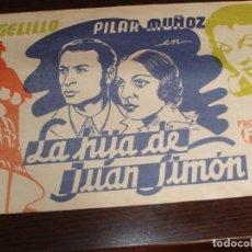 Cine: 1794- POSTER DE CINE: LA HIJA DE JUAN SIMON DEJOSE LUIS SAENZ DE HEREDIA. Lote 193243345