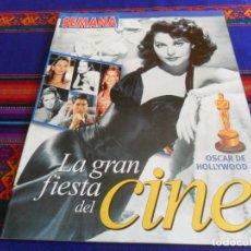 Cine: SEMANA LA GRAN FIESTA DEL CINE, OSCAR DE HOLLYWOOD. 27-3-02. MUY BUEN ESTADO.. Lote 193303895