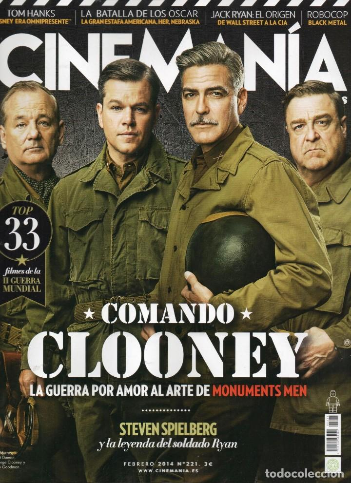 CINEMANIA N. 221 FEBRERO 2014 - EN PORTADA: MONUMENTS MEN (NUEVA) (Cine - Revistas - Cinemanía)