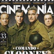 Cine: CINEMANIA N. 221 FEBRERO 2014 - EN PORTADA: MONUMENTS MEN (NUEVA). Lote 193335678