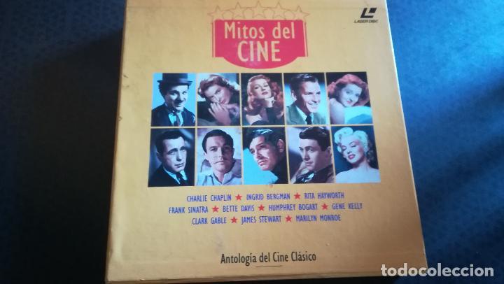 CAJA LOTE 10 LÁSER DISC MITOS DEL CINE. EL GOLPE, MOGAMBO, CASABLANCA, GILDA (Cine - Revistas - Ondas)